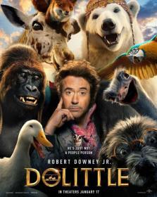 Dolittle (2020) HDRip 1080p  HQ Lines Telugu+Tamil+Hindi+Eng[MB]