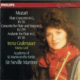 Mozart - Flute Concerto KV 313, Flute And Harp In C KV 299, Flute In C, KV 315 - ASMF, Marriner, Reinecke, Grafenauer