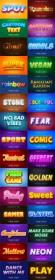DesignOptimal com - Cartoon Style Font Effect Bundle - 30 Premium Vector Graphics Vol 2